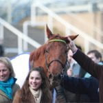 Yanworth and Alan King on Festival Trials Day, Cheltenham 30th January 2016